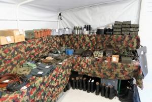 Verkaufs-Shop im Militärmuseum Wildegg