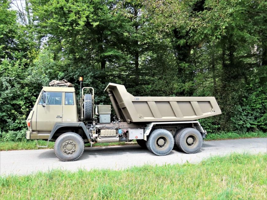 Steyr 1491.310/S37, Lastw / Sattelschl F WA Brue 95 sch gl 6x6 Muldenkipper